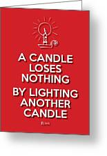 Candle Red Greeting Card