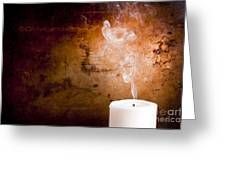 Candle Smoke Trails Greeting Card