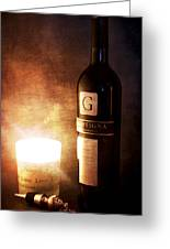Candle Wine Greeting Card