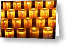 Candlelights - Bougies Notre Dame De Paris - Paris - France Greeting Card by Francoise Leandre
