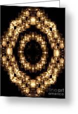 Candles Abstract 6 Greeting Card
