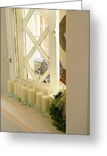 Candles And Wicker And Window Greeting Card