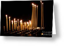 Candles In Church Greeting Card