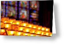 Candles In Notre Dame Greeting Card