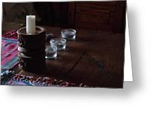 Candles In The Morning Greeting Card