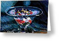 Candles In Water Greeting Card