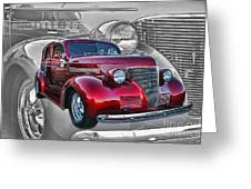 Candy Apple Red Greeting Card