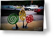 Candy Bike Rack In Lomoish Greeting Card
