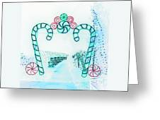Candy Cane Christmas 2 Greeting Card