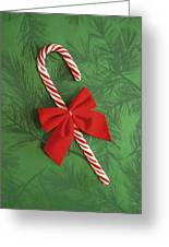 Candy Cane Greeting Card by Colette Scharf