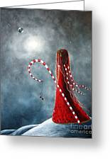 Candy Cane Fairy By Shawna Erback Greeting Card