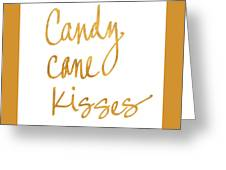 Candy Cane Kisses Greeting Card