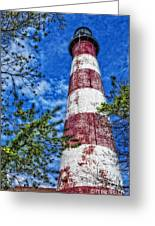 Candy Cane Lighthouse Greeting Card