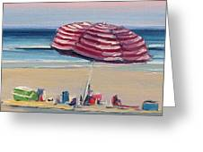 Candy Cane Umbrella Greeting Card