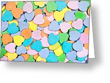 Candy Hearts Greeting Card