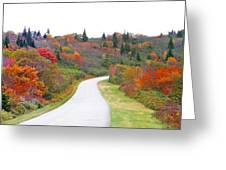 Candy Land On The Blueridge Parkway Greeting Card