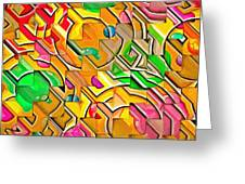 Candy - Lolly Pop Abstract  Greeting Card