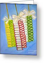 Candy Ribbon  Greeting Card