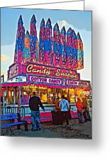 Candy Shoppe Line Art Greeting Card