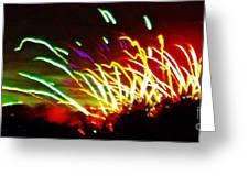 Candy Stripe Fireworks Greeting Card