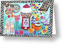 Candy Window Greeting Card