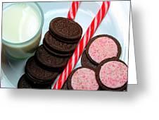 Candycane  Cookies - Milk - Cookies Greeting Card