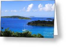 Caneel Bay In St. John In The U. S. Virgin Islands Greeting Card
