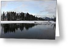 Winter Mountain Calm - Canmore, Alberta Greeting Card