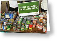 Canned Goods For Food Banks Greeting Card