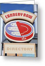 Cannery Row Directory At The Monterey Bay Aquarium California 5d25020 Greeting Card