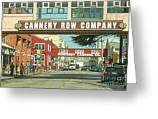 Cannery Row Monterey California Greeting Card