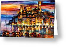 Cannes-france - Palette Knlfe Oil Painting On Canvas By Leonid Afremov Greeting Card