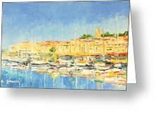 Cannes Harbour Greeting Card