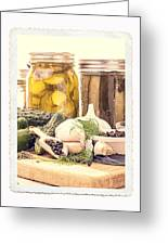 Canning Kitchen Art Greeting Card
