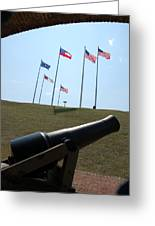 Cannon At Fort Sumter Greeting Card