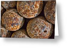 Cannon Balls Greeting Card