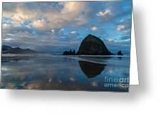 Cannon Beach Calm Morning Tidal Flats Greeting Card