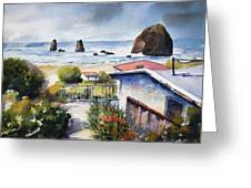 Cannon Beach Cottage Greeting Card