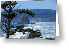 Haystack Rock Greeting Card