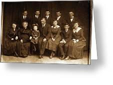 Cannon Family Portrait Circa 1912 Greeting Card