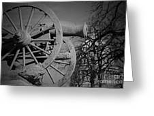 Cannon Fire Of Washington Greeting Card