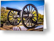 Cannon In New Orleans Washington Artillery Park Greeting Card