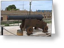 cannon of the old fort Corfu Greeting Card