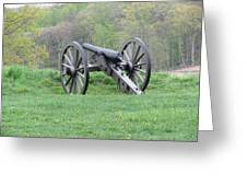 Cannon On Culp's Hill Greeting Card