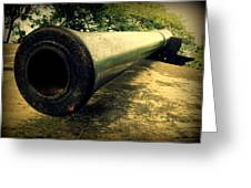Elephanta Island Cannon Greeting Card