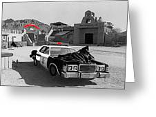 Cannonball Run 2  Brothel Set   Mexican Plaza Old Tucson Arizona 1984 Greeting Card