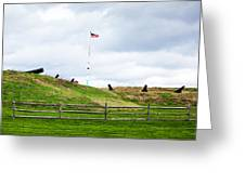 Cannons And The Star Spangled Banner Greeting Card
