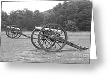 Cannons On Manassas Battlefield Greeting Card