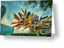 Canoe Art Greeting Card