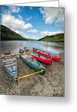Canoe Break Greeting Card by Adrian Evans